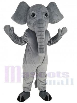 Éléphant gris puissant Costume de mascotte Animal
