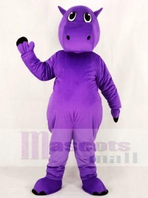 Mignonne Violet Hippopotame Mascotte Costume École