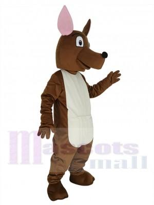 Joey Kangourou aux oreilles roses Costume de mascotte Animal