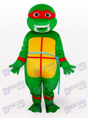 Costume de mascotte de tortues de héros d'adolescent de mutant rouge