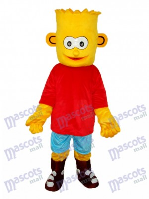 Les Simpsons Bart Simpson Mascotte Adulte Costume Anime de dessin animé