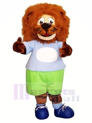 Bleu vêtements Lion Mascotte Les costumes Animal