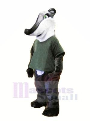 gris Chemise Blaireau Mascotte Costume Animal
