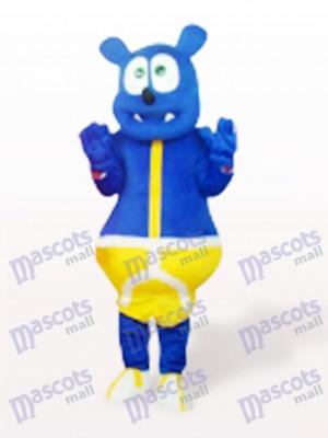 Ours bleu Costume mascotte monstre mignonne de dessin animé