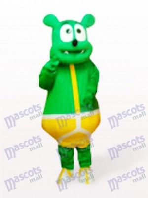 Costume de mascotte de monstre d'ours vert