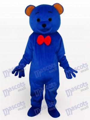 Déguisement de mascotte animal en peluche bleu