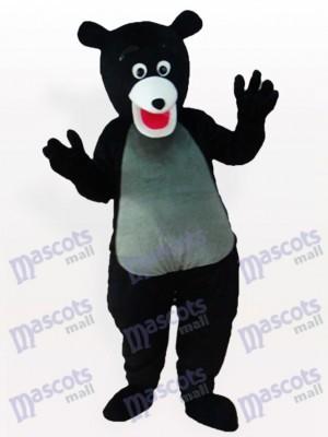 Costume de mascotte d'ours noir obèse