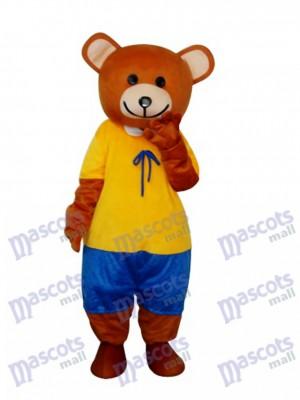 Costume de mascotte en peluche ours en peluche