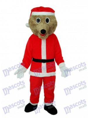 Costume de mascotte d'ours de Noël Animal Costume