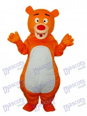 Mascotte des ours à poil court Orange Costume adulte