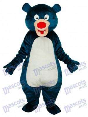 Déguisement d'ours bleu mascotte animal