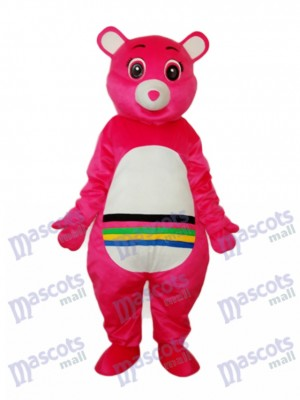 Ours rose avec Costume adulte mascotte Belly coloré Animal