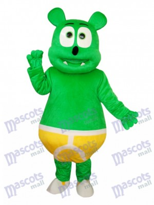 Costume adulte mascotte ours vert