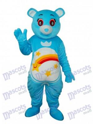 Fleur Belly Blue Déguisement Mascotte d'Ours Costume Animal