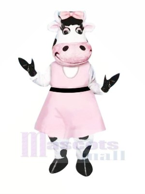 Belle Vache ave Rose Rob Mascotte Les costumes Animal