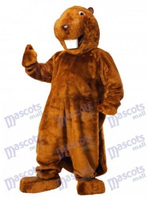 Costume de mascotte castor marron