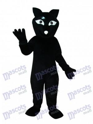 Costume de mascotte castor noir animal