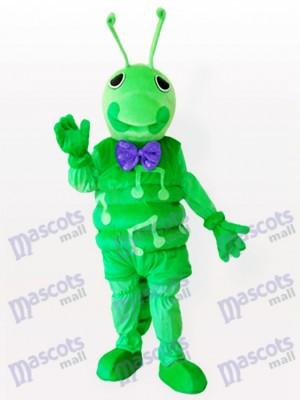 Costume de mascotte adulte vert chenille insectes