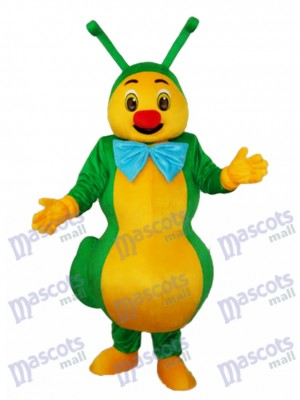 Costume de mascotte verte fourmis insecte