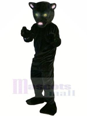 Noir Panthère avec Longue Queue Mascotte Les costumes Animal