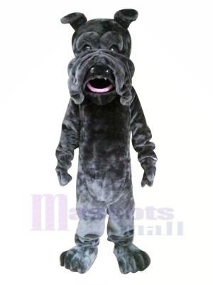 Noir Chien avec Gros Bouche Mascotte Les costumes Animal