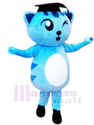 Un clin d'oeil Bleu Chat Mascotte costumes Animal