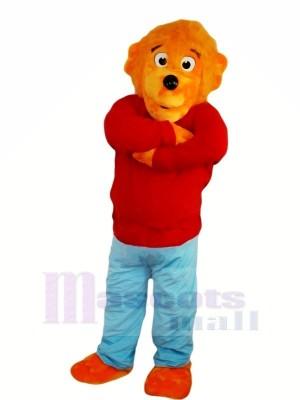 Marrant Lion avec rouge Chandail Mascotte Les costumes Animal
