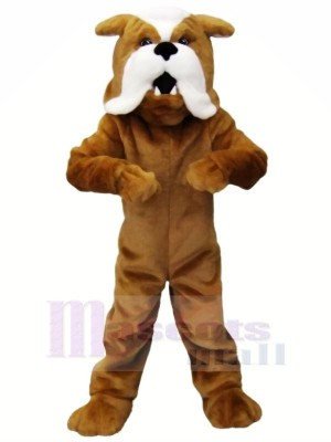 Fort marron Bouledogue Mascotte Les costumes Animal