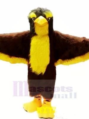 marron et Jaune Aigle Mascotte Les costumes Animal