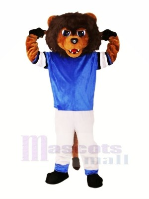 marron Lion avec Costume Mascotte Les costumes Animal