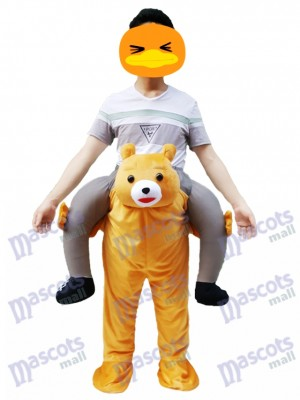 Ride on Me Ours en peluche Carry Me Ride Costume mascotte ours brun
