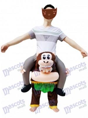 Brown Monkey Piggyback Carry Me Ride on Cheeky Monkey Mascot Costume