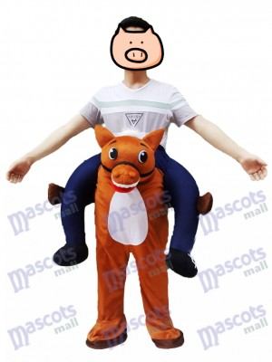 Wild Western Horse Carry Me Piggy Retour Mascotte Ferme Costume de Cowboy