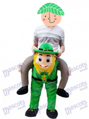 Piggy Retour Costume irlandais Carry Me Leprechaun Mascotte Costume Trèfle St Patricks Day