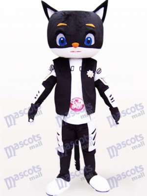 Monsieur Animal chat noir Costume de mascotte adulte