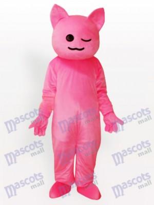 Pinky Costume de mascotte adulte de chat de dessin animé