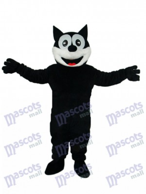 Mascotte de chat heureux Costume adulte Animal