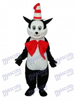 Chat noir avec chapeau Mascotte Costume adulte Animal