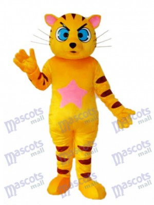 Mascotte de chat jaune Costume adulte Animal