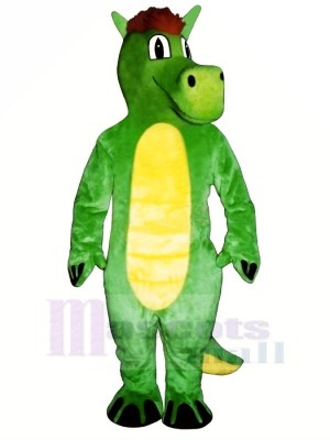 vert Dopey Dragon Mascotte Les costumes Animal