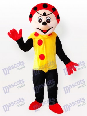 Clown Spotty en costume de mascotte robe jaune