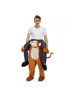 Gorille Singe Porter moi Balade sur Halloween Noël Costume pour Adulte/enfant