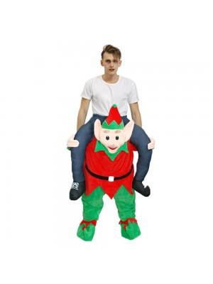 vert Esprit dans rouge Porter moi Balade sur Halloween Noël Costume pour Adulte