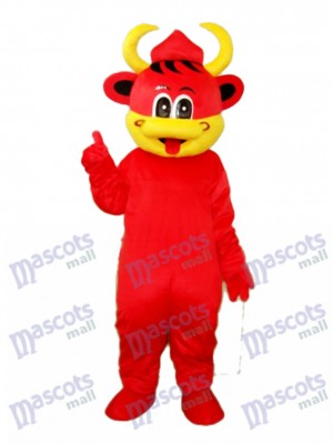 Bouche Jaune Red Cow Mascotte Costume adulte Animal