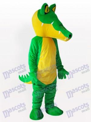 Costume de mascotte adulte de crocodile jaune