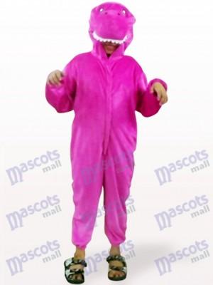 Costume de mascotte de dinosaure pourpre ouvert d'enfants de mascotte