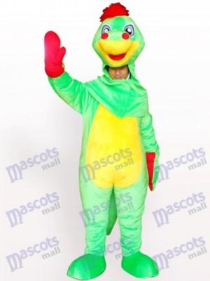Costume de mascotte de dinosaure adulte de visage ouvert