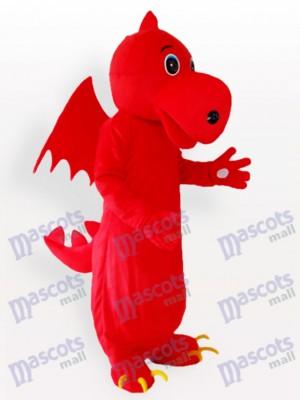 Costume de mascotte adulte Stegosaurus rouge