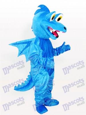 Costume drôle mascotte adulte bleu Stegosaurus