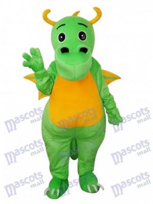 Costume adulte de mascotte de dinosaure gros nez vert Animal